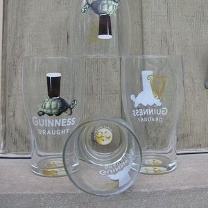 Other - Set 4 Guinness Imperial Pint Glasses - Turtle